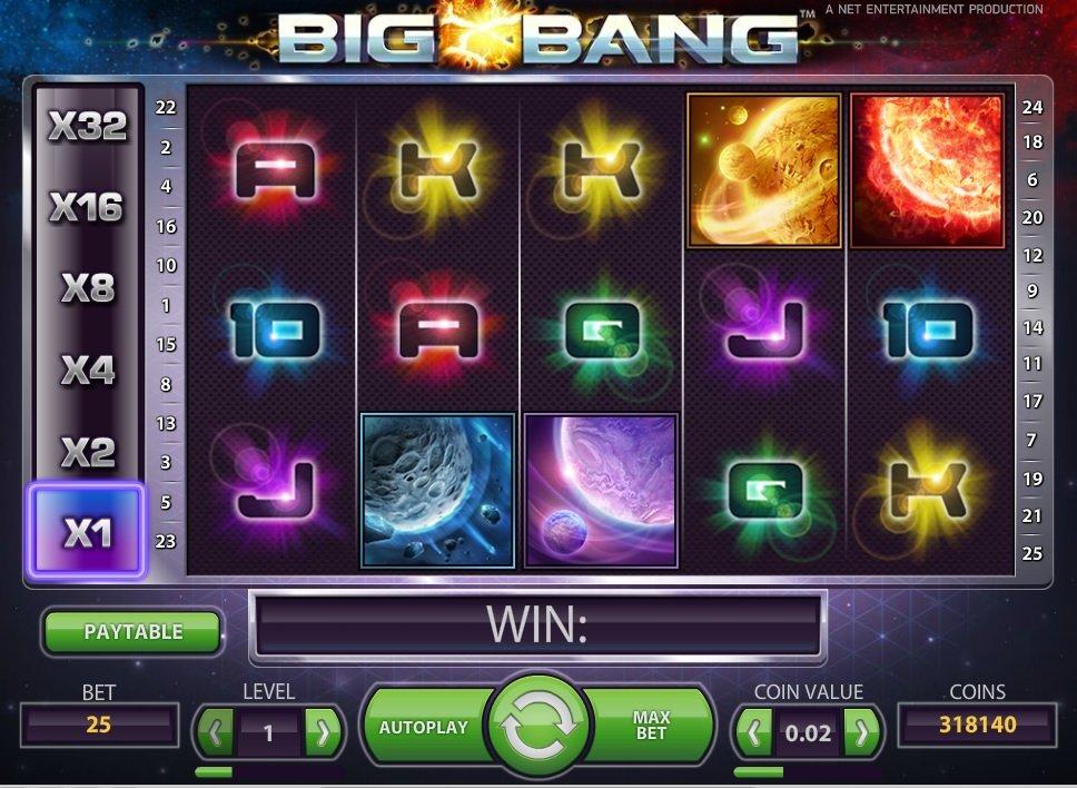 Φρουτάκι Big Bang σύμβολα