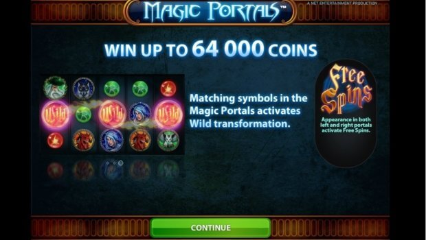 Φρουτάκι Magic Portals της Netent