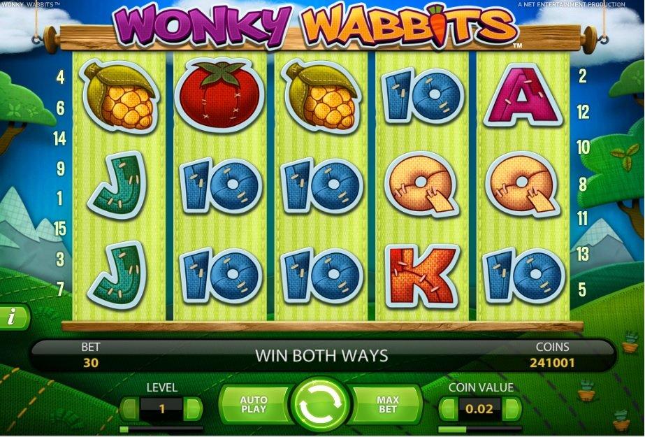Φρουτάκι Wonky Wabbits σύμβολα