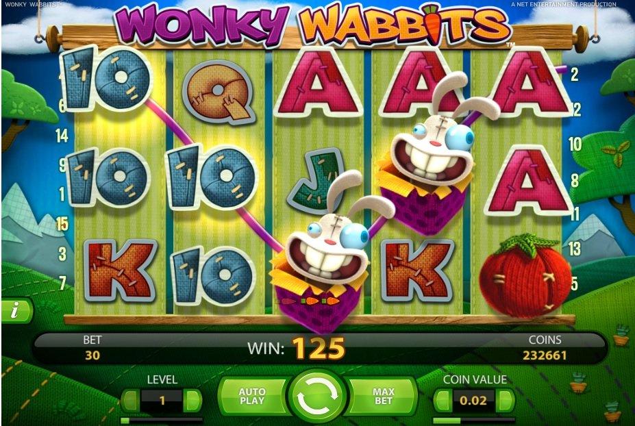 Φρουτάκι Wonky Wabbits σύμβολο wild