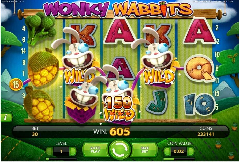 Φρουτάκι Wonky Wabbits big win