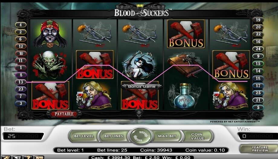 Φρουτάκι Blood suckers σύμβολο μπόνους