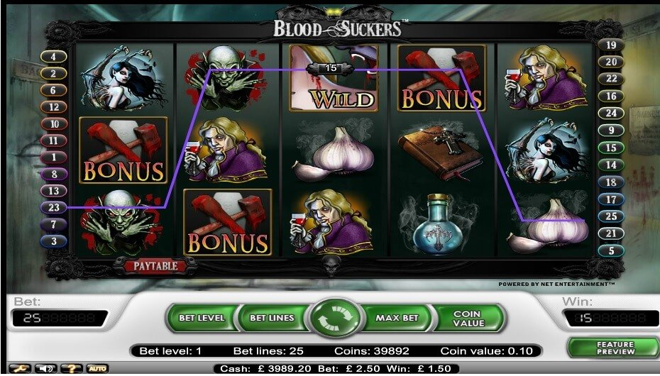 Φρουτάκι blood suckers και σύμβολο wild