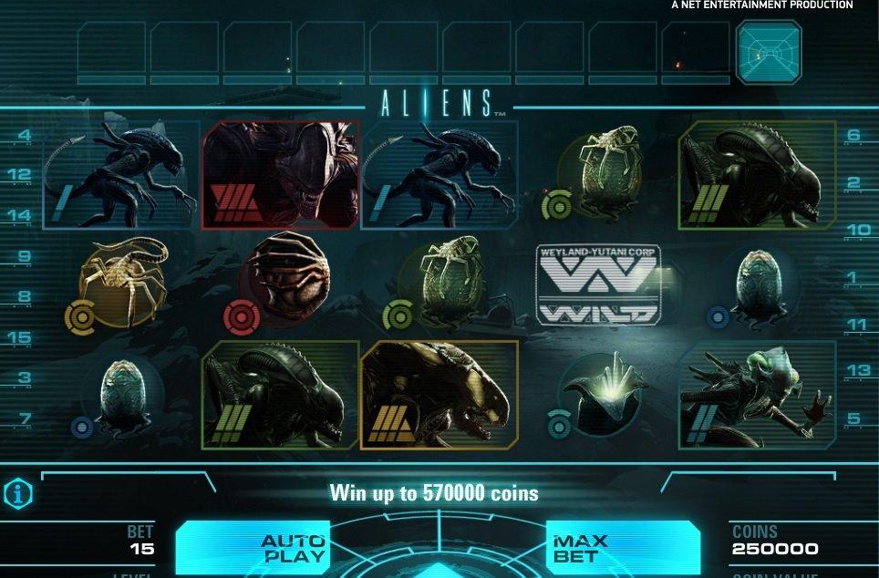 Φρουτάκι Aliens σύμβολα