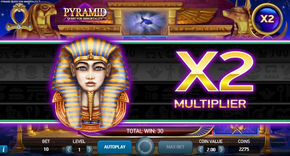 Φρουτάκι Pyramid Quest for Immortality Avalanche multiplier
