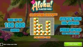 Φρουτάκι Aloha Cluster Pays