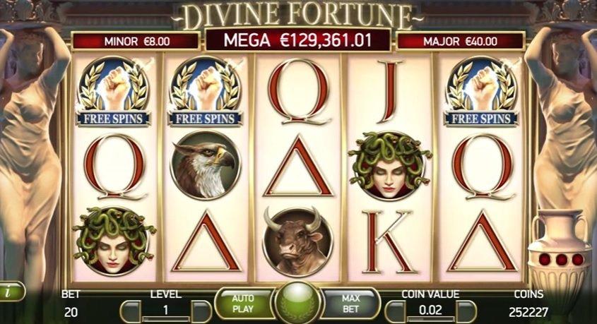 Φρουτάκι Divine Fortune SCATTER