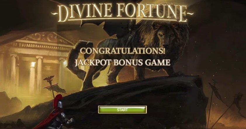 Φρουτάκι Divine Fortune jackpot bonus game