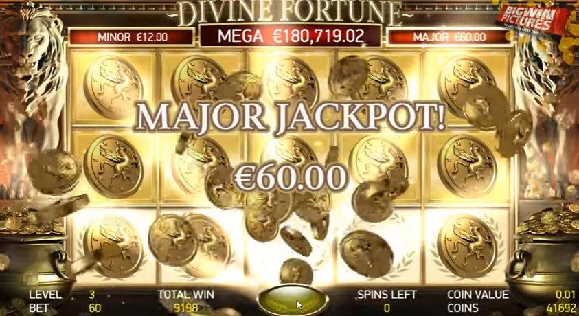 Φρουτάκι Divine Fortune major jackpot