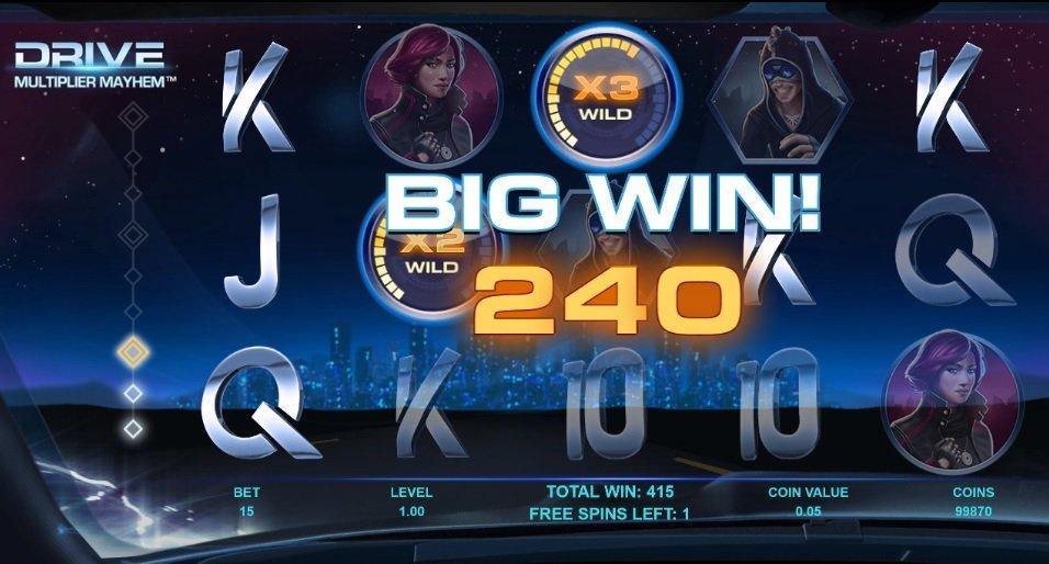 Φρουτάκι Drive: Multiplier Mayhem big win
