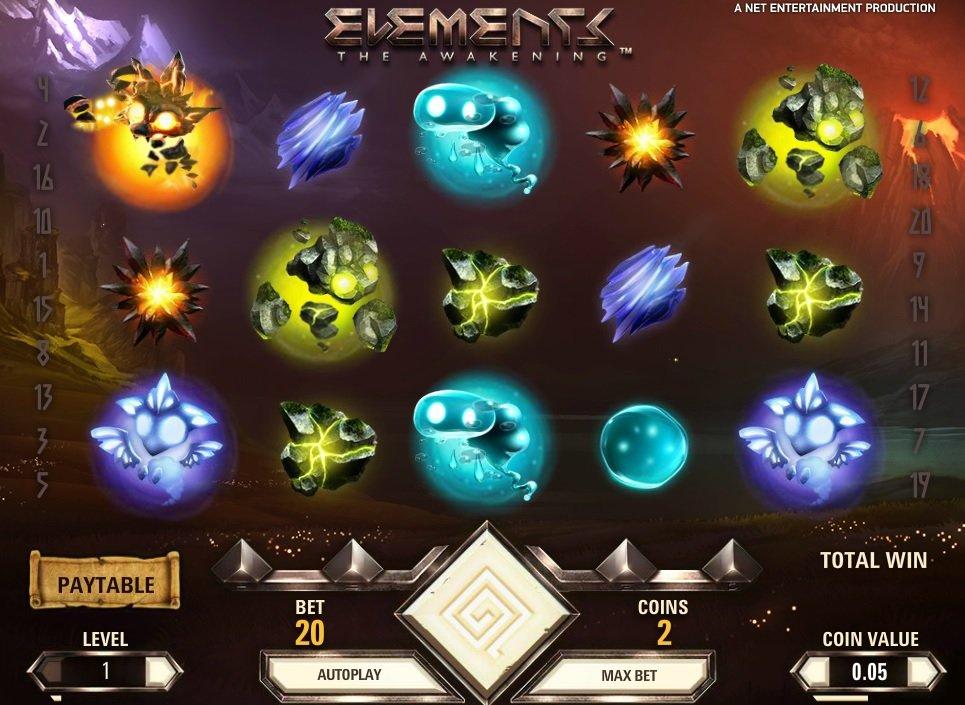 Φρουτάκι Elements συμβολα
