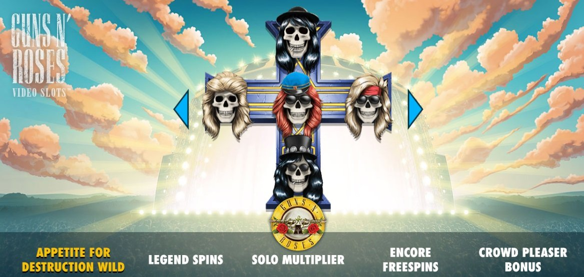 Φρουτάκι Guns N' Roses απο την εταιρία λογισμικού καζίνο NetEnt