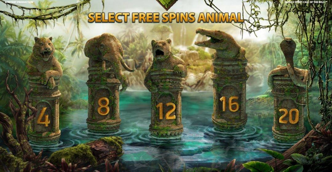 Φρουτάκι Jungle Spirit: Call of the Wild FREE SPINS