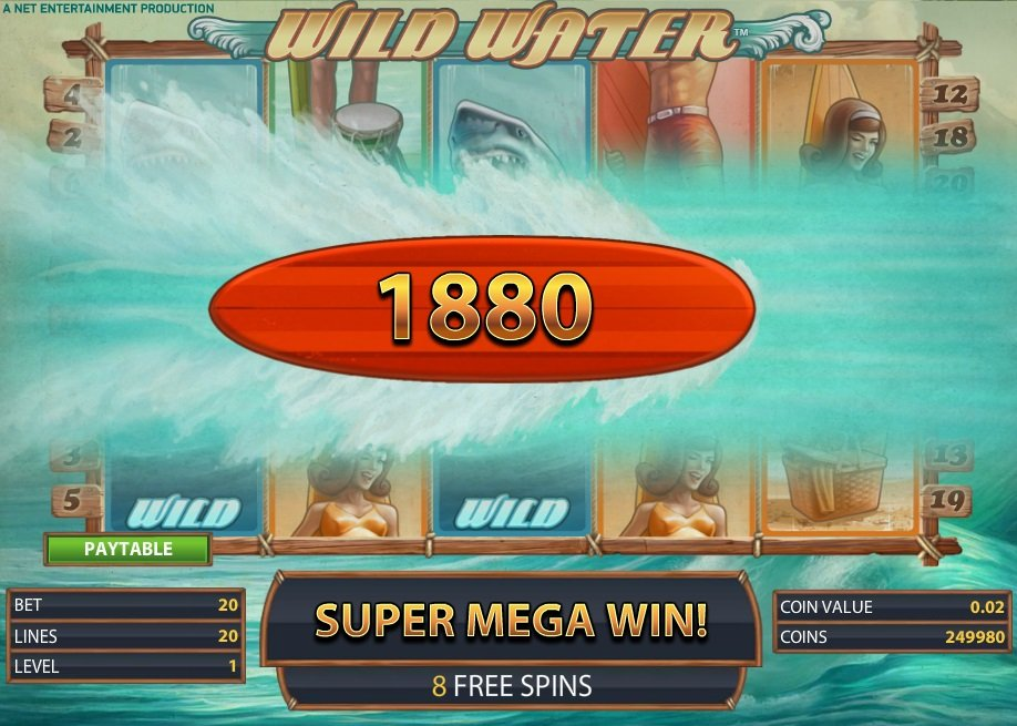 Φρουτάκι Wild Water super mega win
