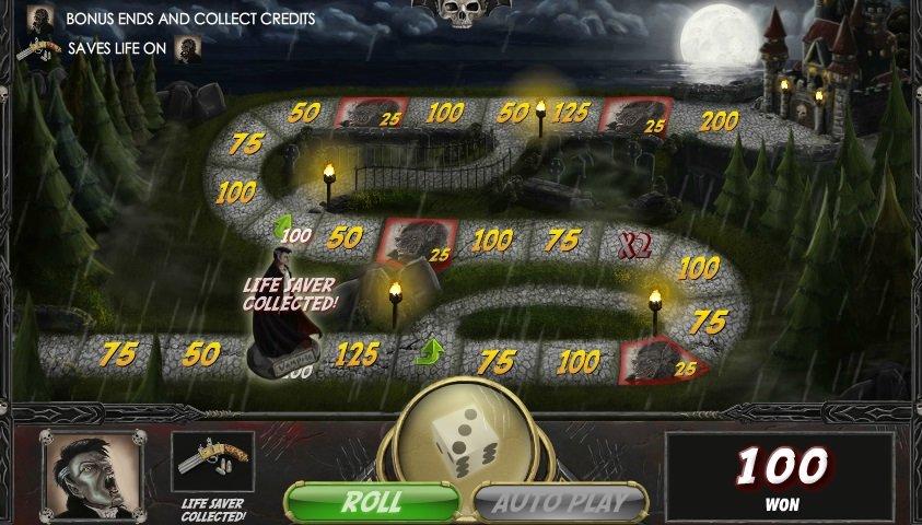 Φρουτάκι Vampires vs Werewolves bonus game
