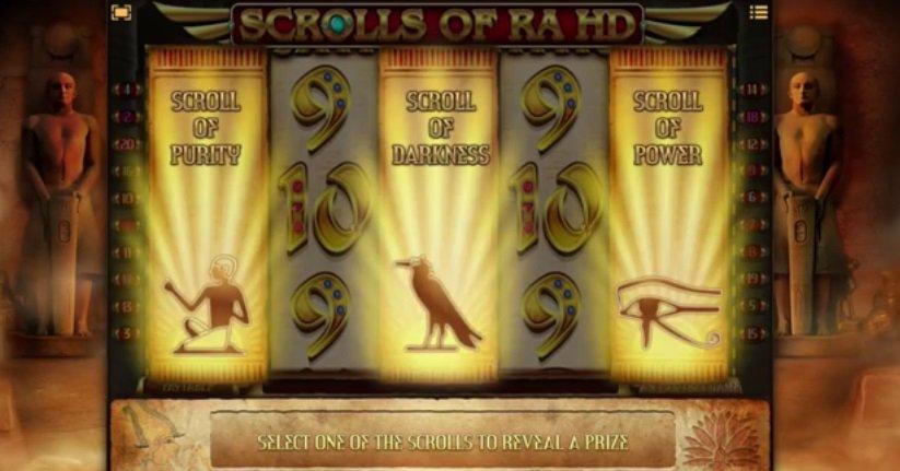 Φρουτάκι Scrolls of Ra scrolls bonus