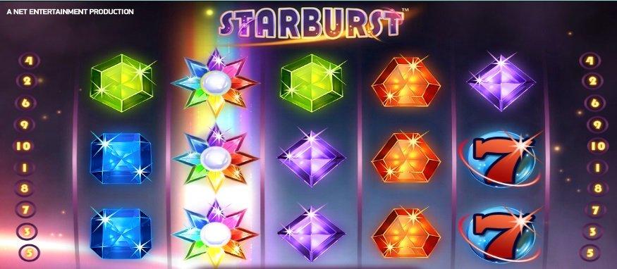 Φρουτάκι Starburst σύμβολο wild