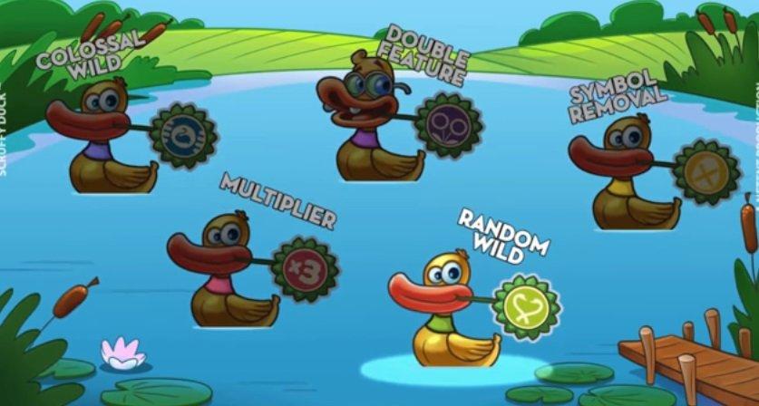 λειτουργίες στο Φρουτακι Scruffy Duck
