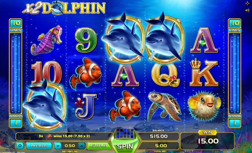Φρουτάκι Wild Dolphin συμβολα