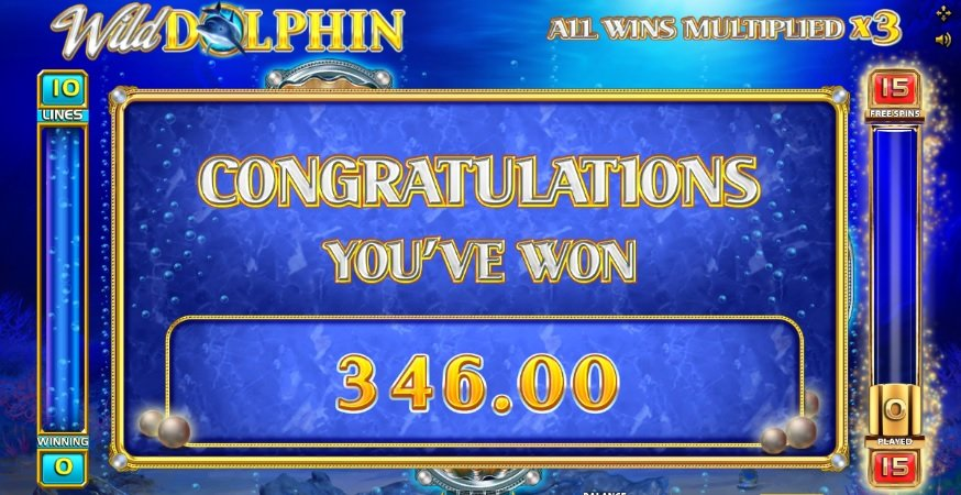 Φρουτάκι Wild Dolphin win