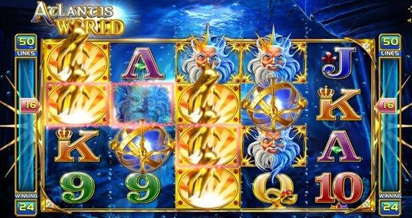 σύμβολο wild στο Φρουτάκι Atlantis World