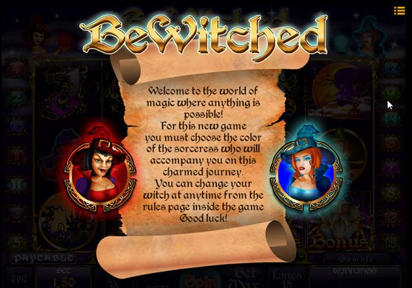 επιλογή μάγισσας στο φρουτάκι bewitched