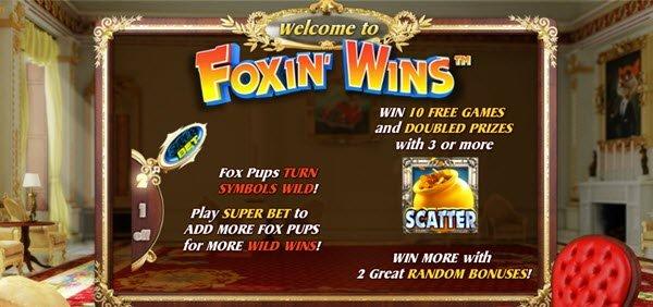 Φρουτάκι Foxin' Wins