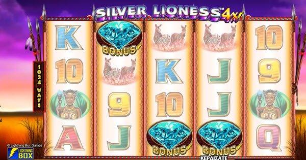 διαμαντι στο Φρουτάκι Silver Lioness 4x