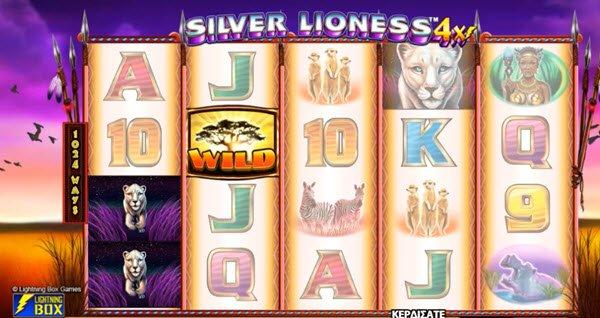 symbolo wild sto froytaki silver lioness