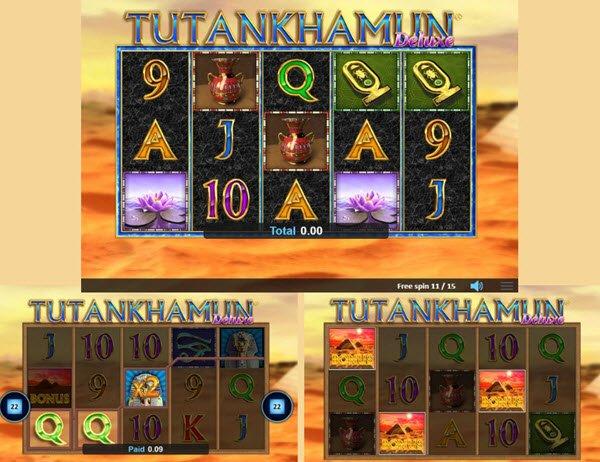 λειτουργιες στο Φρουτάκι Tutankhamun Deluxe