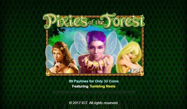 Φρουτάκι Pixies of the Forest της IGT