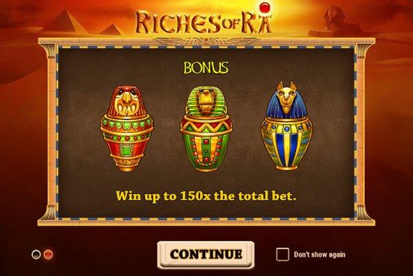 Φρουτάκι Riches of Ra της Play'n GO
