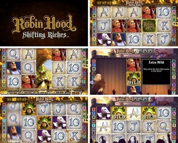 συμβολα και λειτουργιες στο Φρουτάκι Robin hood shifting riches της NetEnt