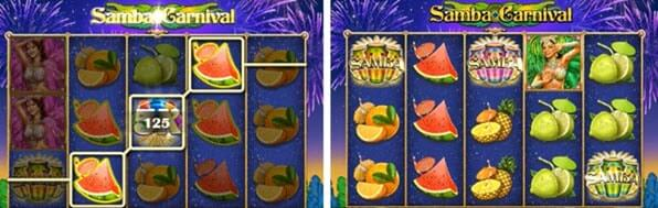 συμβολα wild και bonus στο φρουτακι samba carnival