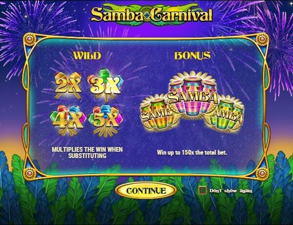 Φρουτάκι Samba carnival της Play'n GO