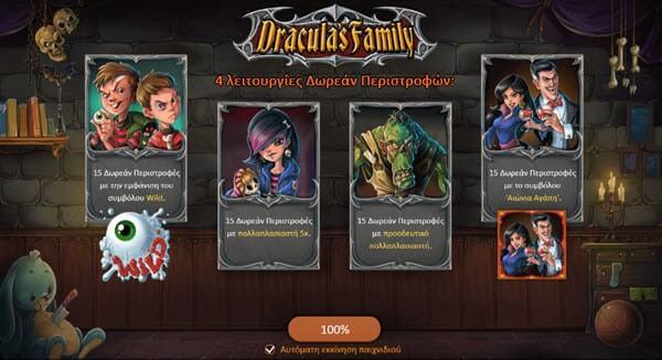 Φρουτάκι Dracula's Family της Playson software