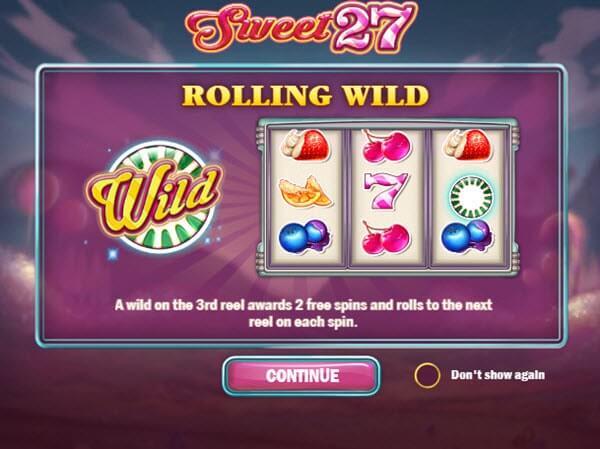 Φρουτάκι Sweet 27 της Play'n GO