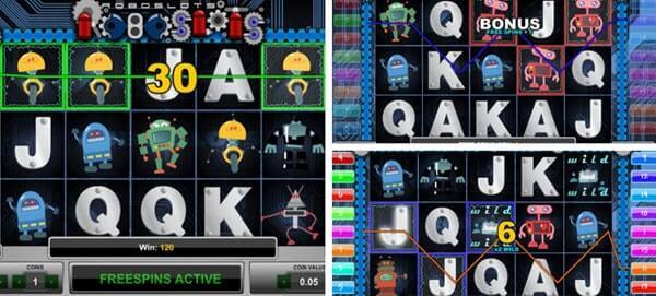 βασικα χαρακτηρσιτικα στο Φρουτάκι Roboslots- Φρουτάκια 1×2 Gaming