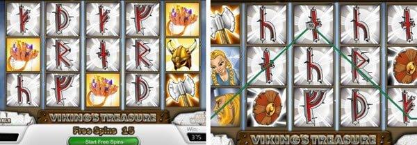 συμβολα wild και scatter στο Δωρεάν online Φρουτάκι Vikings treasure