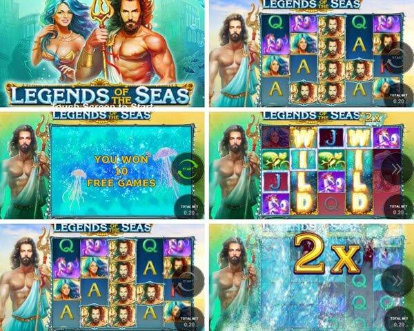 συμβολα και λειτουργιες Φρουτάκι Legends of the seas
