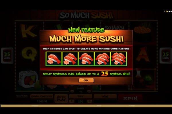 φρουτάκι So much Sushi της Microgaming