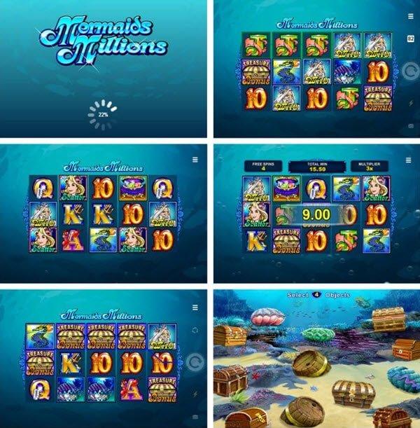 λειτουργίες στο Φρουτάκι Mermaids millions