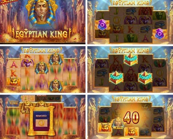λειτουργιες στο Egyptian king της iSoftBet