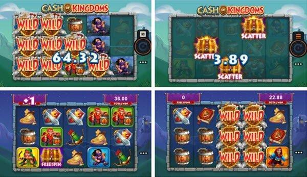 λειτουργιες στο φρουτακι Φρουτάκι Cash of kingdoms της Microgaming