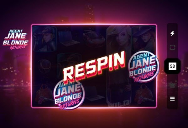 λειτουργια respin στο φρουτάκι Agent Jane blonde returns