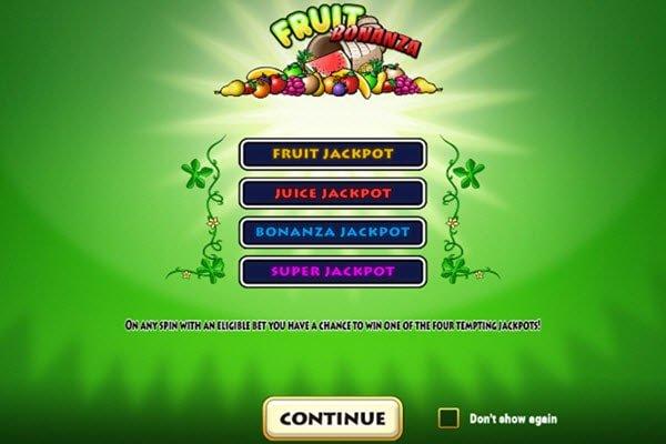 Φρουτάκι Fruit bonanza της Play'n GO