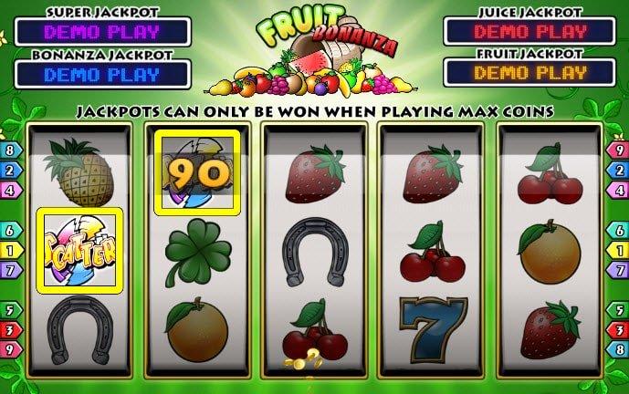 συμβολο scatter στο Φρουτάκι Fruit bonanza της Play'n GO