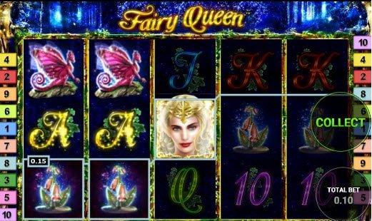Φρουτάκι Fairy queen της Novomatic και σύμβολο wild