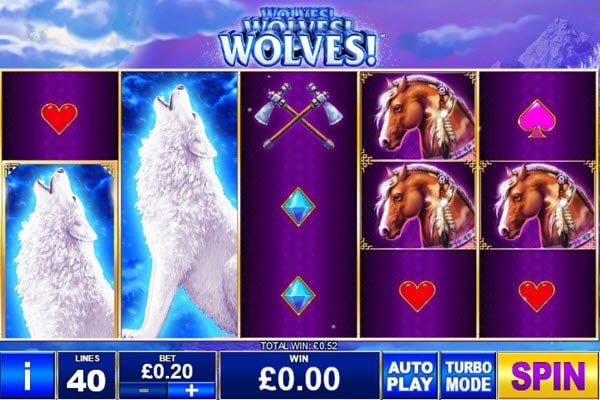 Wolves! Wolves! Wolves! της Playtech