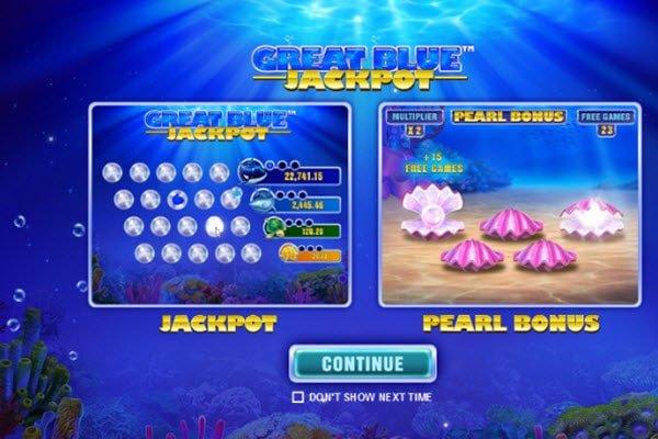 Φρουτάκι Great Blue Jackpot της Playtech